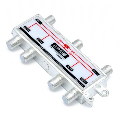 日本トラストテクノロジー クーポン配布中 10%OFF TVアンテナ6分配器 JSC-022 豊富な品