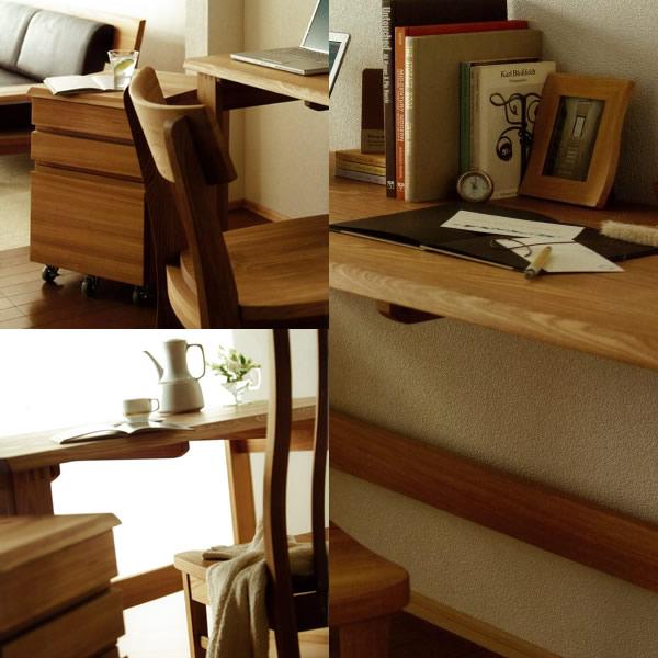 人にも環境にもやさしい家具シリーズ【古彩】★ワークデスク幅150奥行60KO-D150x60収納オイル塗装送料無料