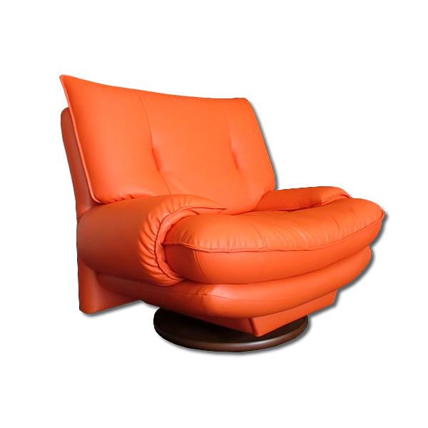 1人掛 回転付 : 日本製14色展開ハイバックソファーラウンドタイプ【fariest】 (アーバン) 一人掛け 1P シングル いす チェア 椅子 リラックス アームチェア