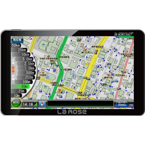 プロリンク 道路詳細図&るるぶ約195冊 オービス位置情報搭載 7インチポータブルナビゲーション A717M