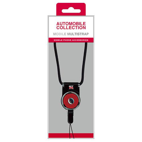 エアージェイ NISSAN 公式ライセンス品 安売り GT-R MOBILE NRNP-FSBK ◆高品質 BLACK MULTI STRAP