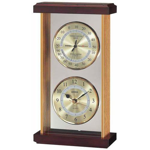 【マラソンでポイント最大43倍】EMPEX スーパーEX 温・湿度・時計 EX-742 ゴールド