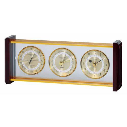 【マラソンでポイント最大43倍】EMPEX スーパーEX 気象計・時計 EX-743 ゴールド