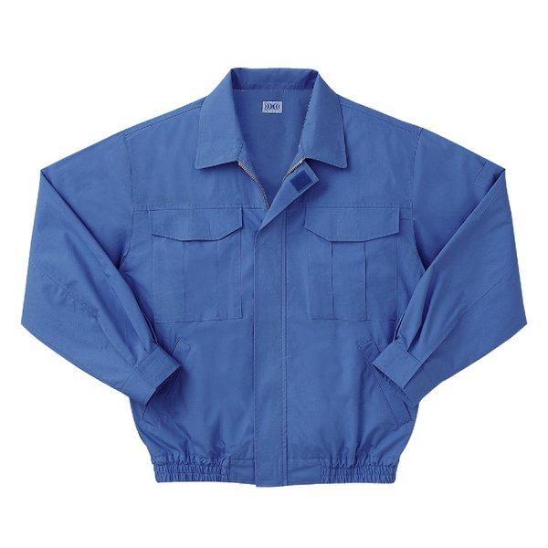 空調服 綿薄手長袖作業着 M-500U 【カラーライトブルー: サイズL】 電池ボックスセット