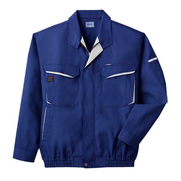 空調服 綿・ポリ混紡長袖作業着 K-500N 【カラー:ブルー サイズ:L】 電池ボックスセット