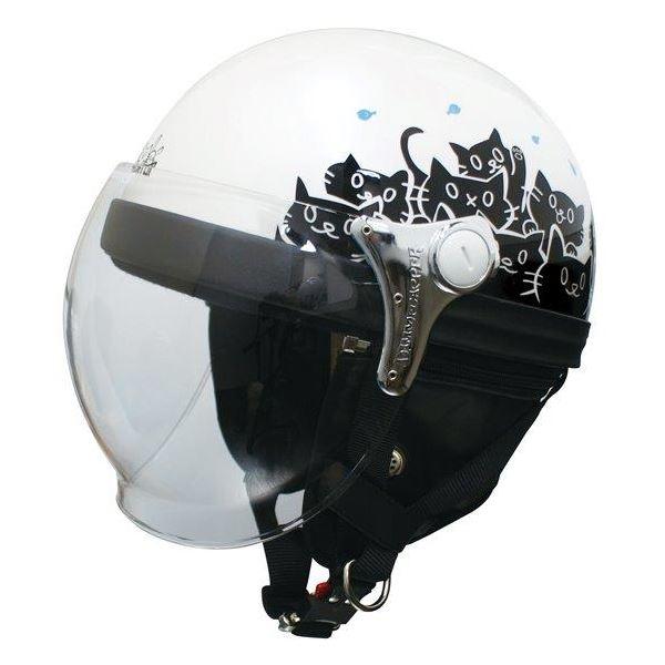 ダムトラックス(DAMMTRAX) ハーフヘルメット CARINA HARF(カリーナハーフ) ホワイト/CAT レディース(57cm~58cm)