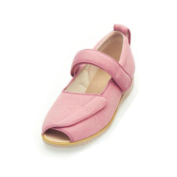 介護靴 施設・院内用 オープンマジック2 9E(ワイドサイズ) 7018 両足 徳武産業 あゆみシリーズ /3L (25.0~25.5cm) ピンク