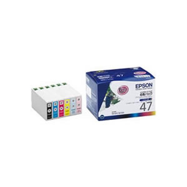 【純正品】 EPSON エプソン インクカートリッジ/トナーカートリッジ 【IC6CL47 6色パック】