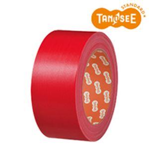 (まとめ)布テープ 50mm×25m 赤 30巻