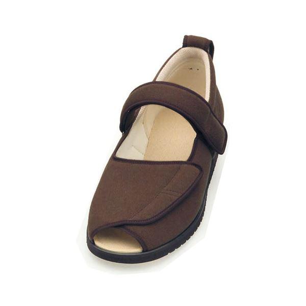 介護靴 施設・院内用 オープンマジック2 9E(ワイドサイズ) 7018 両足 徳武産業 あゆみシリーズ /LL (24.0~24.5cm) ブラウン