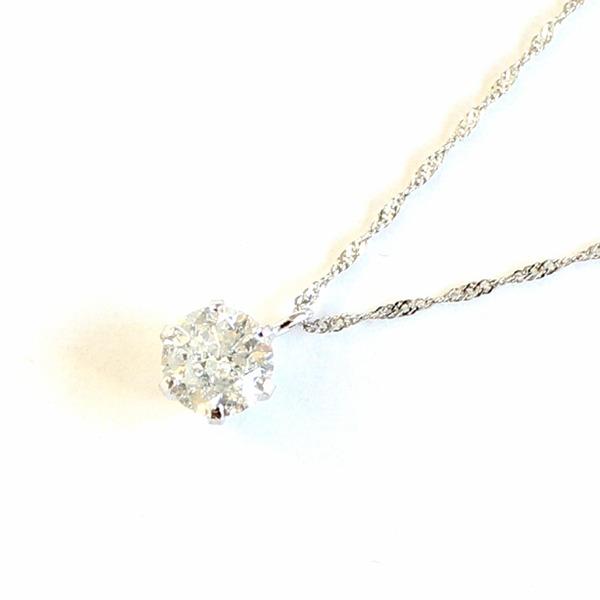 プラチナ900 0.5ct ダイヤモンドペンダント/ネックレス【代引不可】