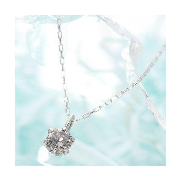 K18ホワイトゴールド 0.1ctダイヤモンドペンダント/ネックレス