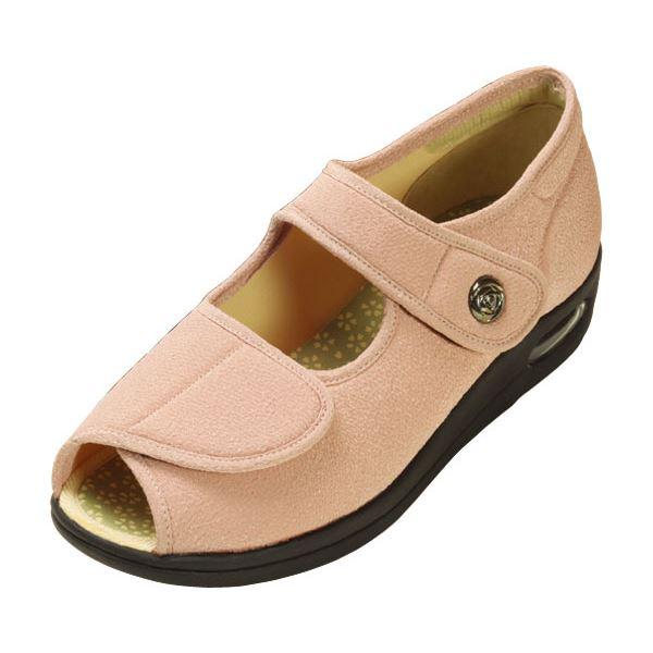 【スーパーセールでポイント最大44倍】マリアンヌ製靴 彩彩~ちりめん~ W1103 婦人用 /24.5cm さくら