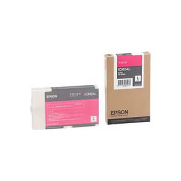 エプソン 期間限定今なら送料無料 インクトナーカートリッジ マゼンダ スーパーセールでポイント最大44倍 純正品 EPSON インクカートリッジ マゼンタ ICM54L スピード対応 全国送料無料 トナーカートリッジ M