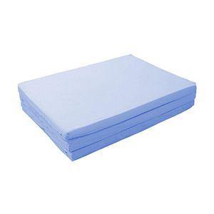 マットレス パウダーブルー ダブル 厚さ6cm 新20色 厚さが選べるバランス三つ折りマットレス【代引不可】