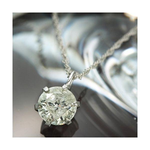 純プラチナ ダイヤ0.5ct ペンダント/ネックレス