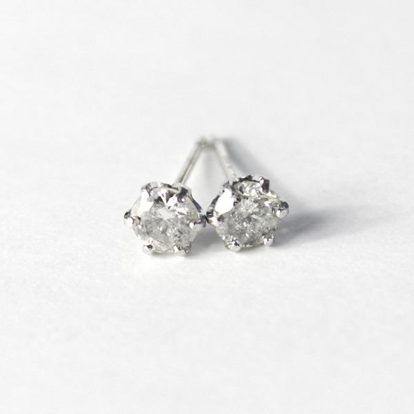 プラチナ900 0.45ct 1粒石 ダイヤモンドピアス スタッドピアス【代引不可】