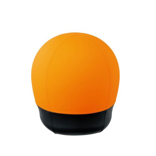【マラソンでポイント最大43倍】CMC スツール型バランスボール/オフィスチェア 【タイヤタイプ】 オレンジ BC-S OR
