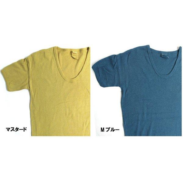 東ドイツタイプ Uネック Tシャツ JT039YD モカ ブラウン サイズ4