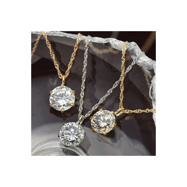 K18/0.5ctダイヤモンドペンダント/ネックレス K18YG