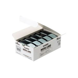 【スーパーセールでポイント最大44倍】(まとめ) カシオ(CASIO) NAME LAND(ネームランド) スタンダードテープ 24mm 透明(黒文字) 5本入×20パック
