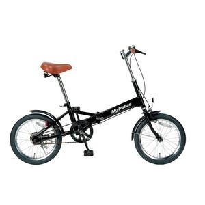 【マラソンでポイント最大43倍】MYPALLAS(マイパラス) 折りたたみ自転車 16インチ M-101BK ブラック