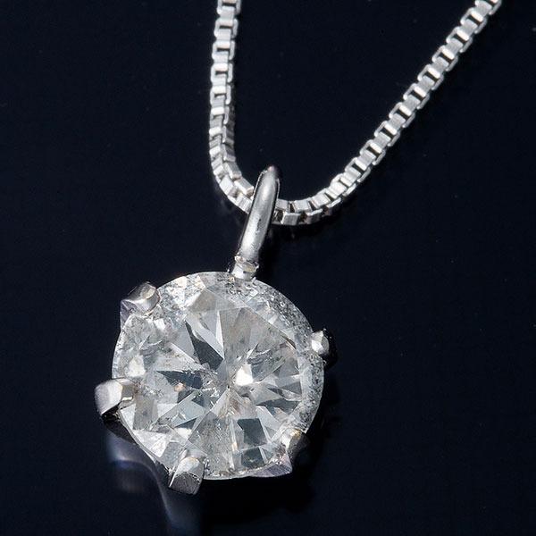 【スーパーセールでポイント最大44倍】K18WG 0.3ctダイヤモンドペンダント/ネックレス ベネチアンチェーン