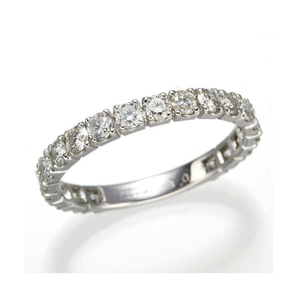 【スーパーセール割引商品】プラチナPt900 ダイヤリング 指輪 1ctエタニティリング 16号 (鑑別書付き)