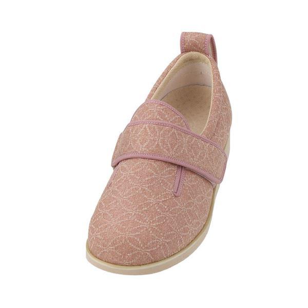 介護靴 施設・院内用 ダブルマジック2雅 9E(ワイドサイズ) 7022 両足 徳武産業 あゆみシリーズ /M (22.0~22.5cm) ピンク