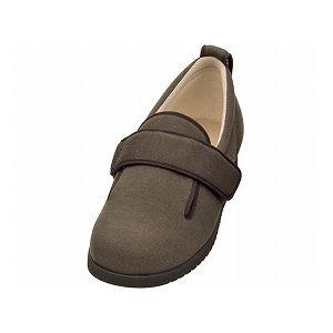 介護靴 施設・院内用 ダブルマジック2 11E(ワイドサイズ) 7029 両足 徳武産業 あゆみシリーズ /LL (24.0~24.5cm) ブラウン