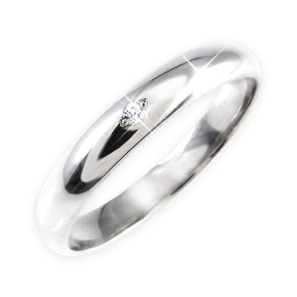 【スーパーセールでポイント最大44倍】ダイヤリング 指輪 甲丸リング 7号