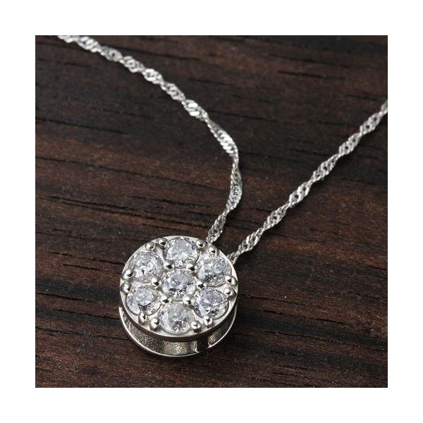 プラチナPt900 セブンストーンダイヤモンドペンダント/ネックレス
