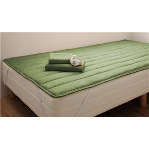 脚付マットレスベット セミシングルサイズ 足付き 脚付きマットレスベッド セミシングル 新 オリーブグリーン 税込 脚15cm セール特価 ショート丈ボンネルコイルマットレスベッド