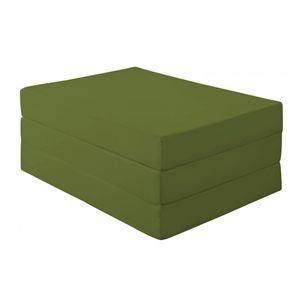 マットレス ダブル 厚さ12cm オリーブグリーン 新20色 厚さが選べるバランス三つ折りマットレス【代引不可】
