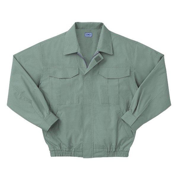 空調服 綿薄手長袖作業着 M-500U 【カラーモスグリーン: サイズ L】 電池ボックスセット