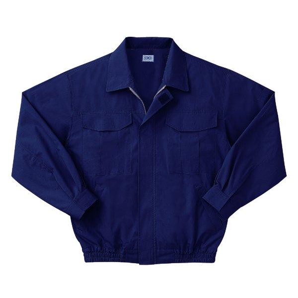 空調服 綿薄手長袖作業着 M-500U 【カラーダークブルー: サイズLL】 電池ボックスセット