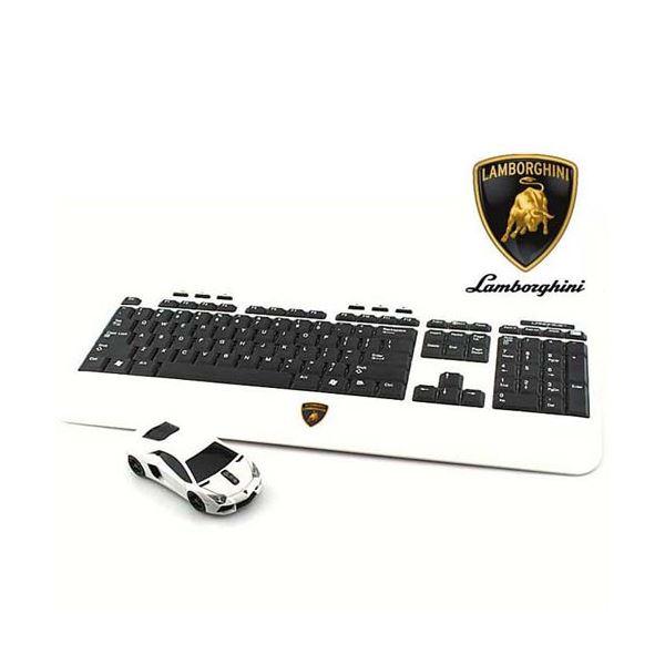 【マラソンでポイント最大43倍】LANDMICE Lamborghini LP700 2.4G無線マウス+キーボード (ホワイト) LB-LP700KM-WH