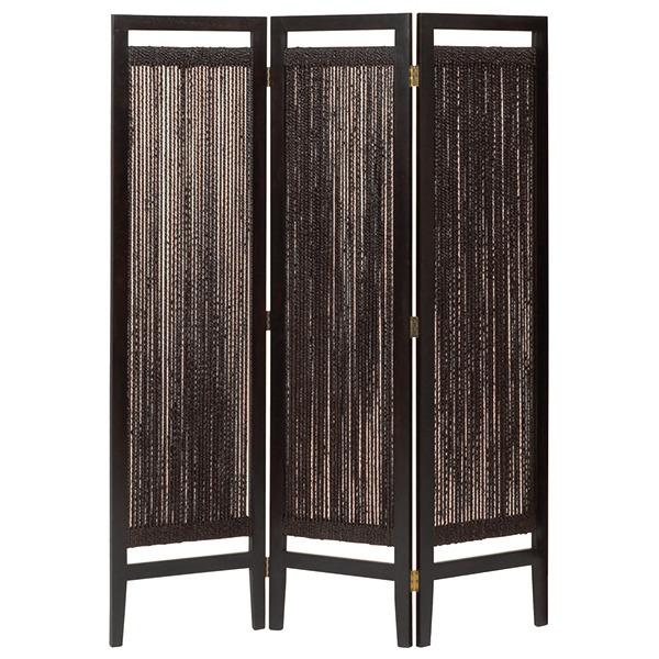 パーテーション(スクリーン) グランツシリーズ 3連 木製 高さ150cm アジアン風 ブラウン【代引不可】