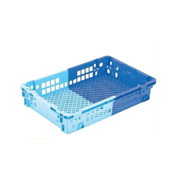 【5個セット】 業務用コンテナボックス/食品用コンテナー 【NF-M35】 ダークブルー/ブルー 材質:PP【代引不可】