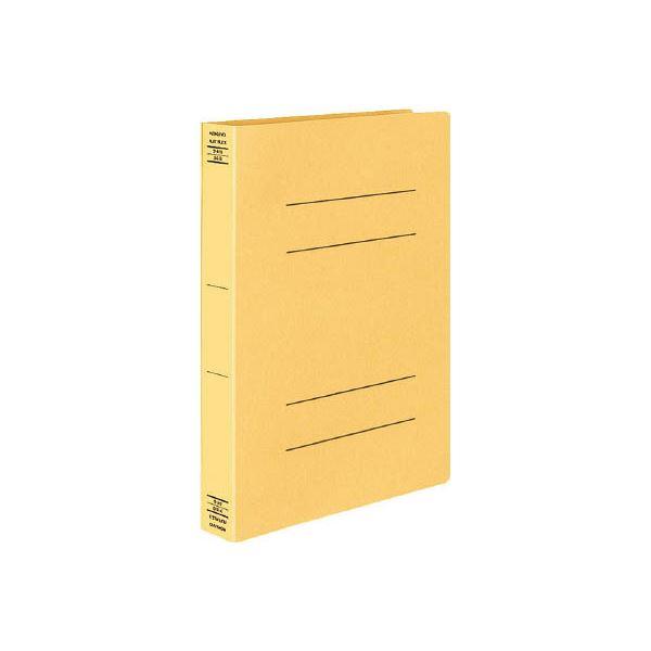 (まとめ) コクヨ フラットファイルX(スーパーワイド) A4タテ 400枚収容 背幅43mm 黄 フ-X10Y 1セット(10冊) 【×4セット】