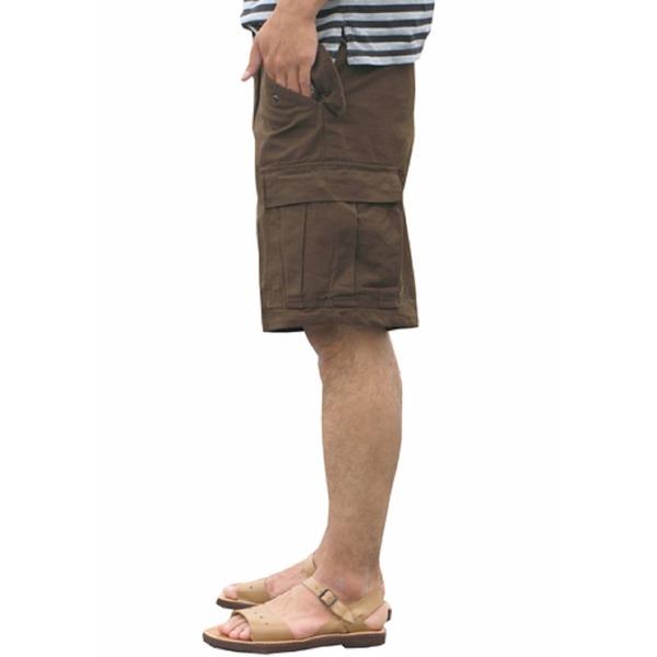 USタイプ「 M-65」フィールドショート丈パンツ ブラウン メンズ Lサイズ 【 レプリカ 】