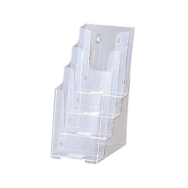 (まとめ) セキセイ カタログスタンド A4 3つ折4段 外寸W123×H254×D203mm CSD-2777 1個 【×10セット】