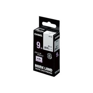 【マラソンでポイント最大43倍】(業務用50セット) カシオ CASIO 透明テープ XR-9X 透明に黒文字 9mm