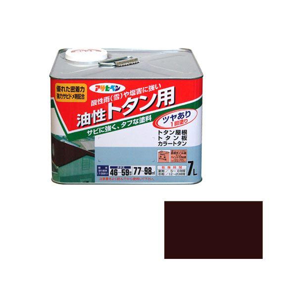 【マラソンでポイント最大43倍】アサヒペン AP トタン用 7L こげ茶