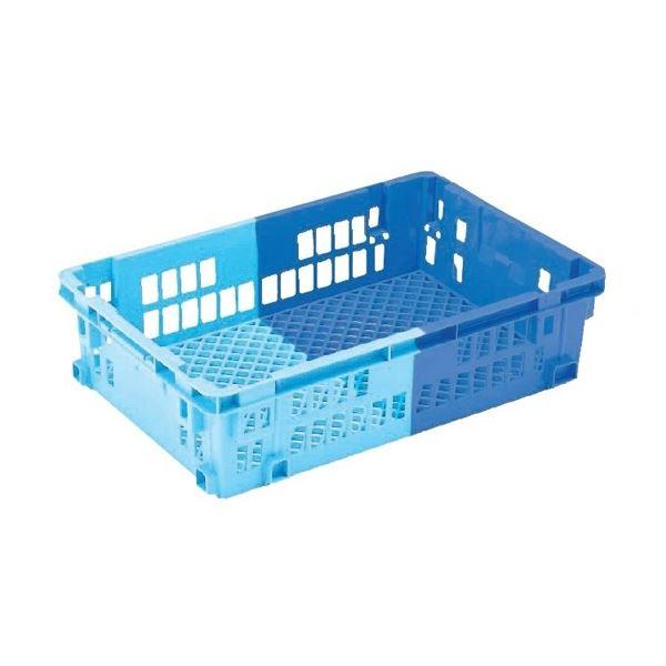 【5個セット】 業務用コンテナボックス/食品用コンテナー 【NF-M43】 ダークブルー/ブルー 材質:PP【代引不可】