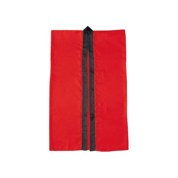 (まとめ)アーテック サテン製はっぴ/法被 【Lサイズ】 ロング丈 袖なし ハチマキ付き レッド(赤) 【×40セット】