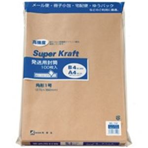 【スーパーセールでポイント最大44倍】(業務用20セット) 高春堂 スーパークラフト封筒 角1 100枚 732