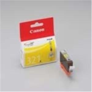(業務用10セット) Canon キヤノン インクカートリッジ 純正 【BCI-321Y】 4本入り イエロー(黄) ×10セット