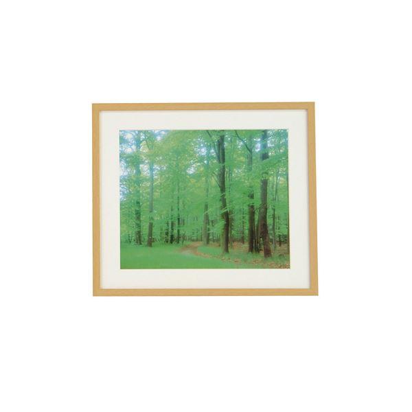 (業務用セット) 木製写真額角型:再生木材 A3判 フ-SW-177-N(木地)【×5セット】