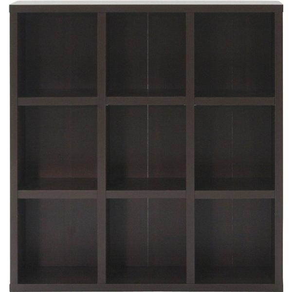 レガール 収納棚(収納ラック) 【3段 幅広】 幅104.5cm×奥行29.5cm RG-1012 ブラウン【組立品】【代引不可】